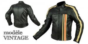 Télécharger / Consulter les images du Blouson EPI en cuir Vintage