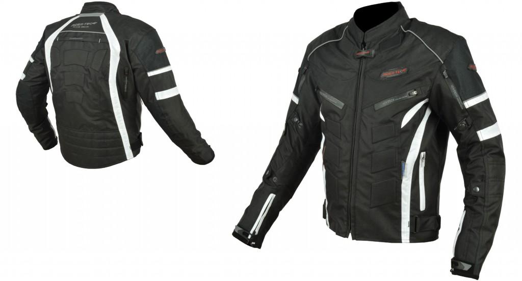Blouson de moto RiderTec Urban Black&White RT-0163B&W